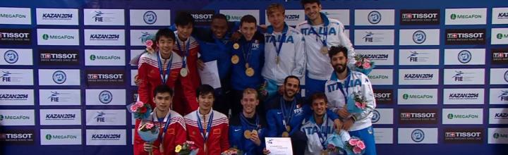 Enzo Lefort , champion du Monde par équipes ! Médaillé de bronze individuel