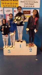 podium aigleMeaux benjamines 2014