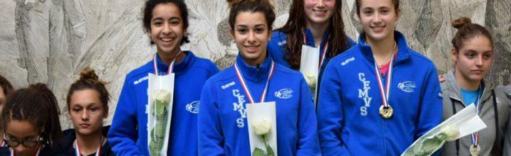 Les cadettes championnes de France, les minimes vice-champions de France !